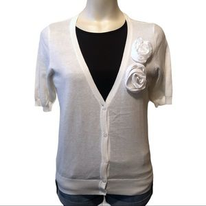 🌵Loft v-neck short sleeve cardigan size medium